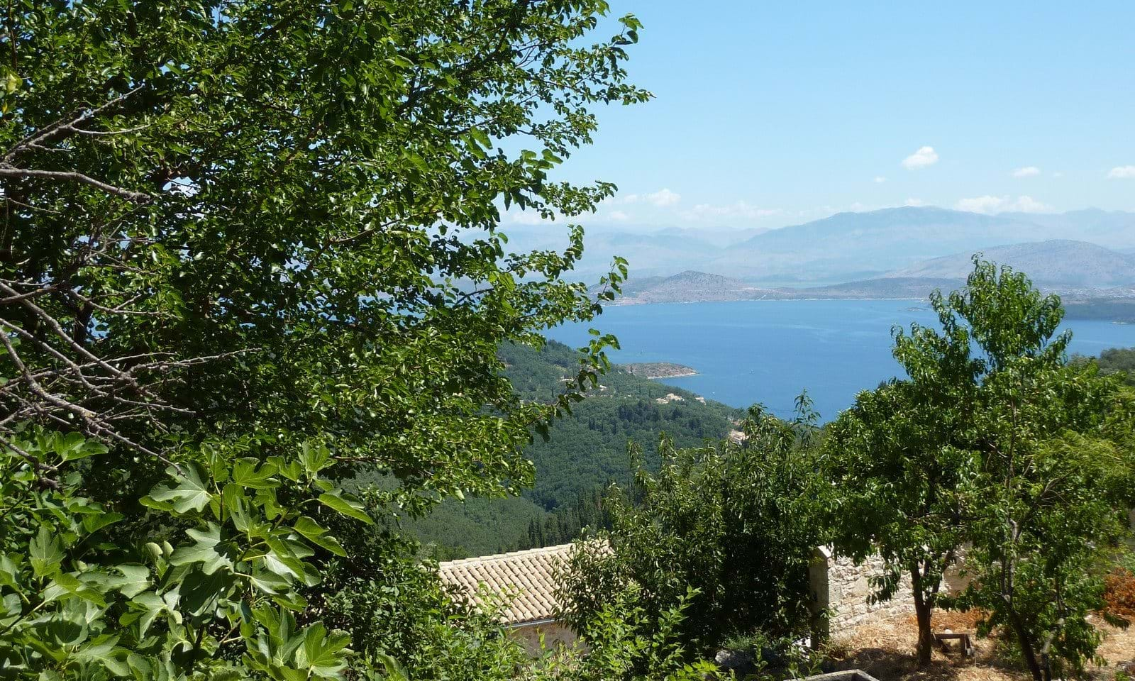 Sea view land for sale Corfu