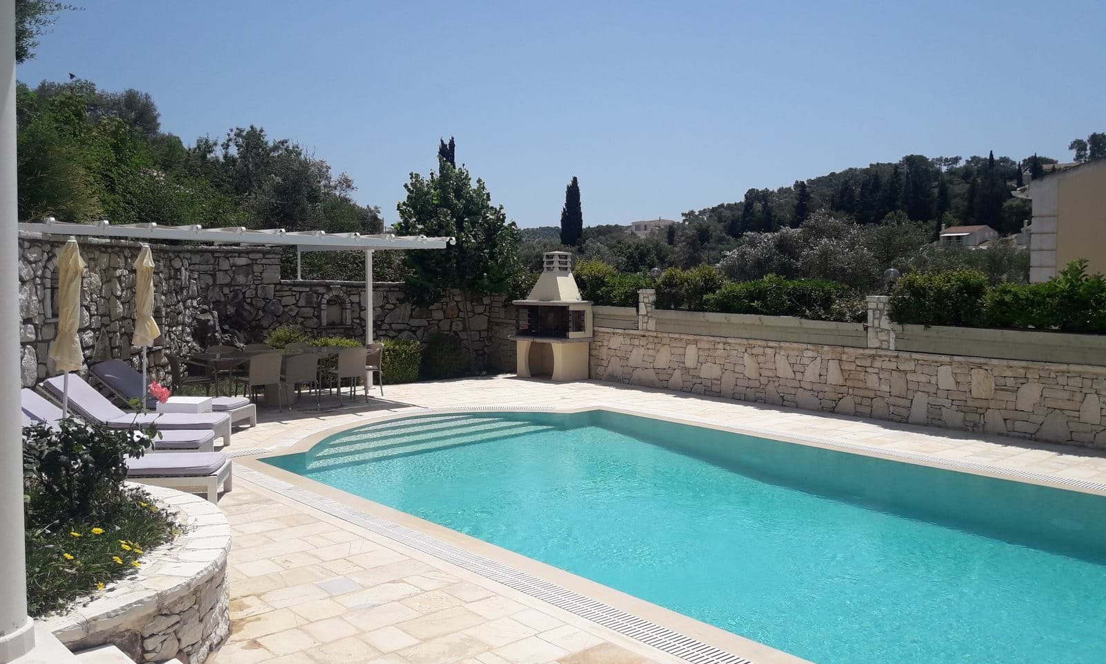 Villa with pool for sale in north east Corfu