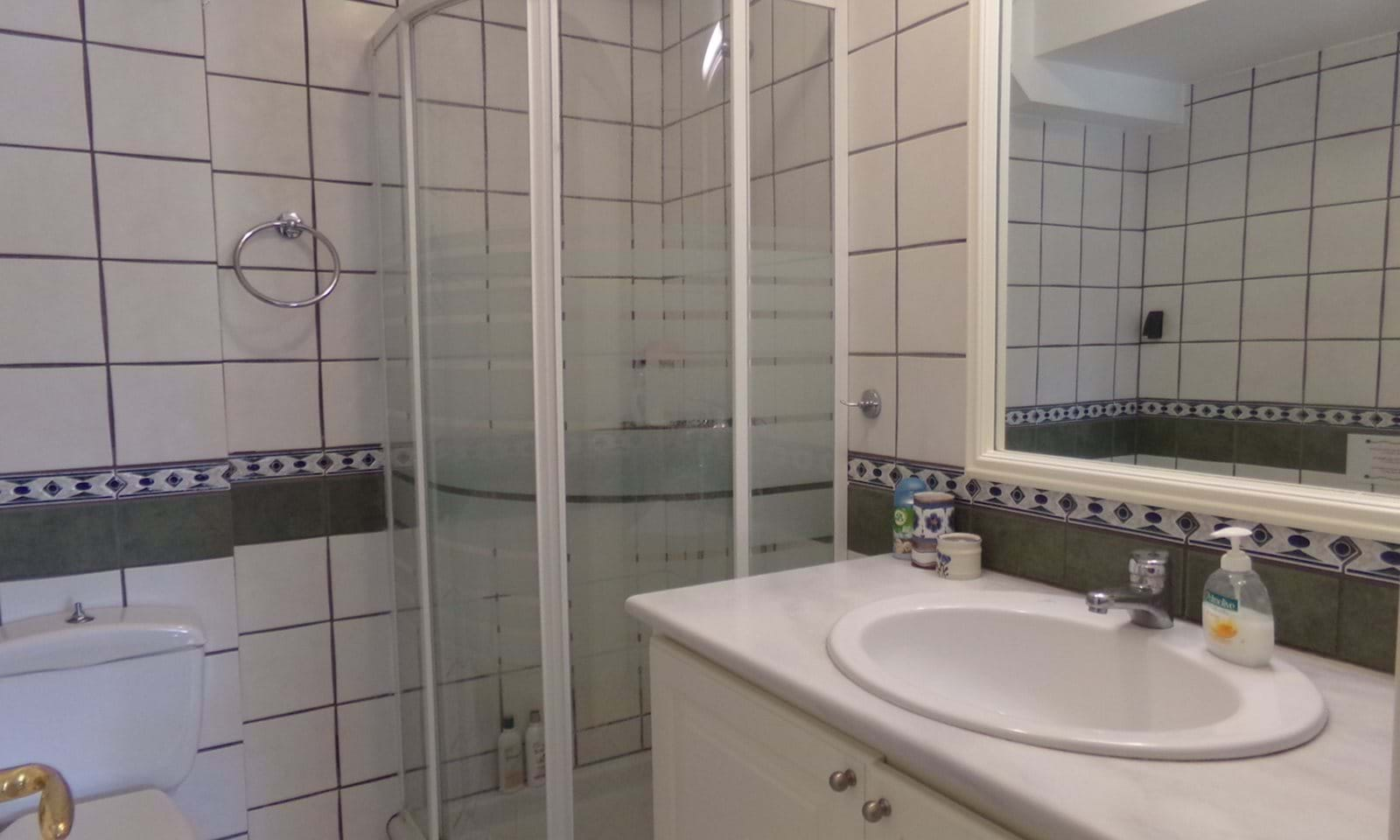Bathroom - shower and toilet