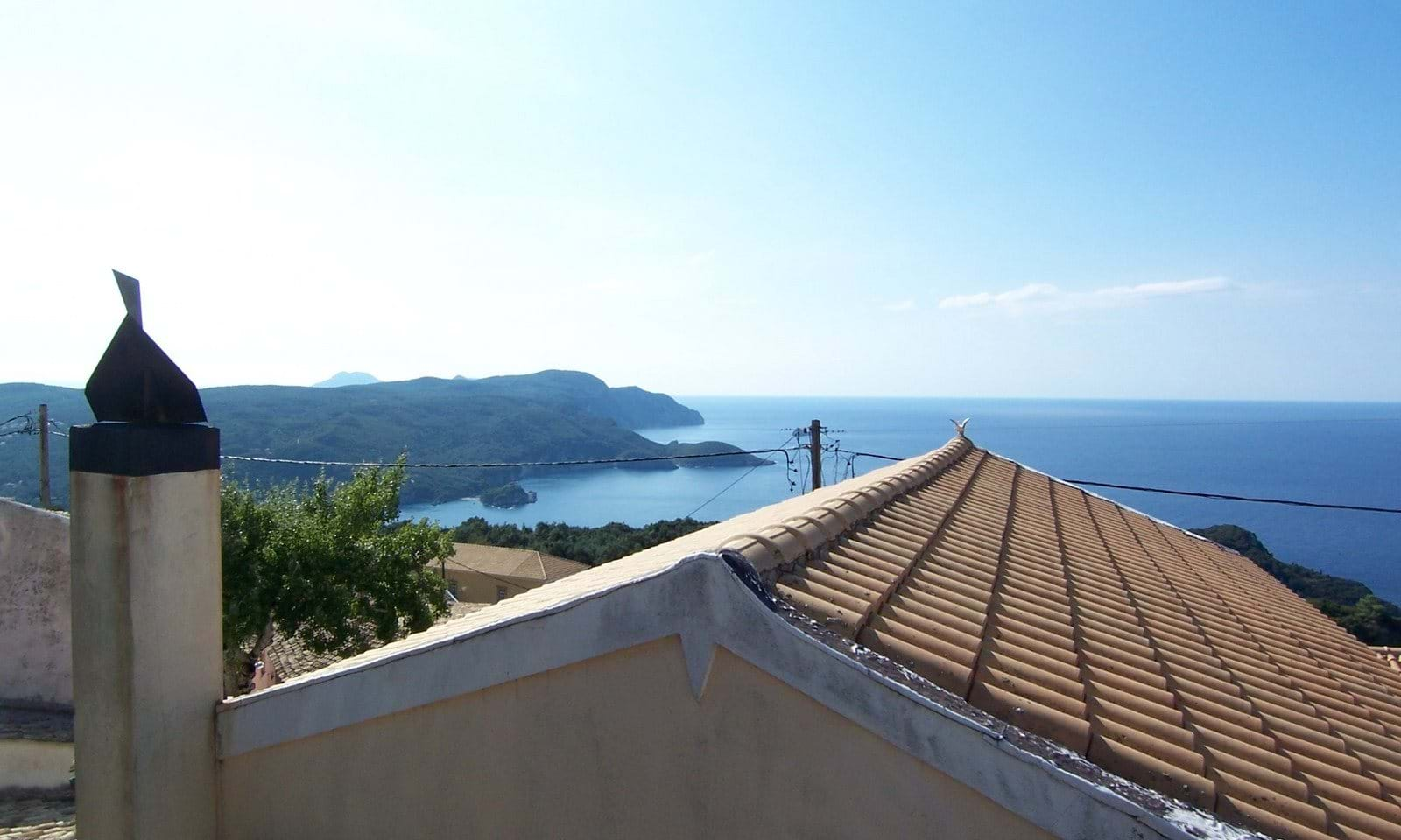 traditional village house with stunning sea view corfu