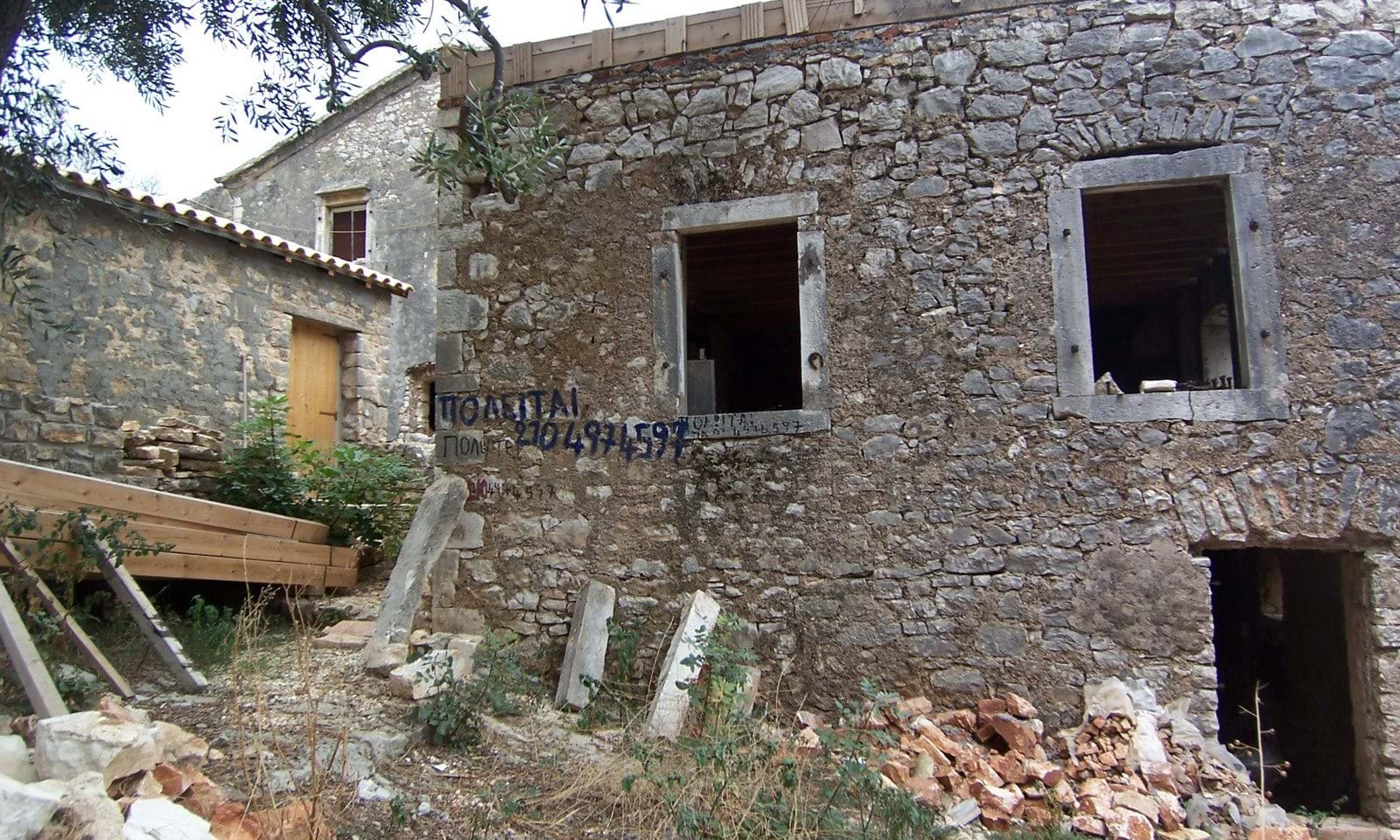 Stone house for sale in Loutses Corfu