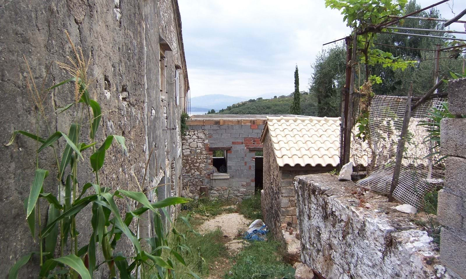 stone renovation property in Corfu