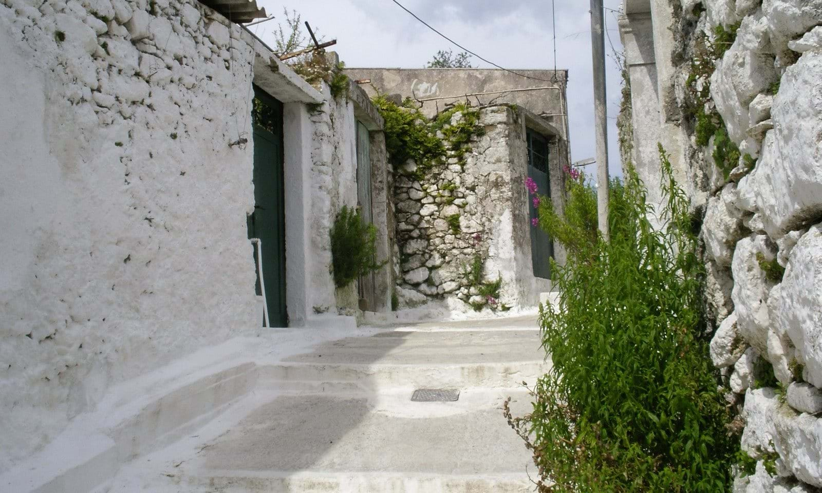 Stone village house for sale in Makrades Corfu