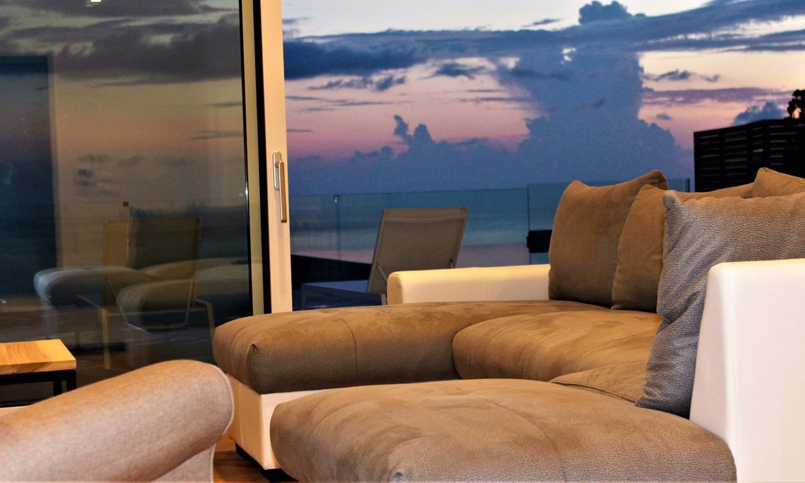 living room and sunset