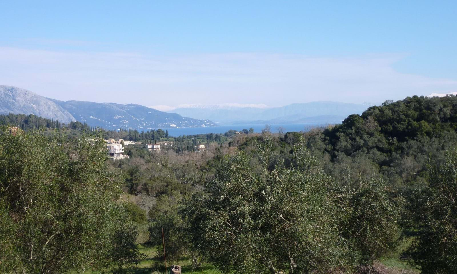Corfu land with sea view