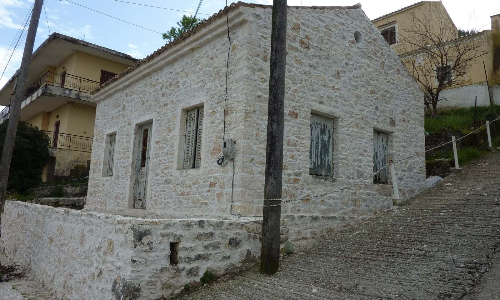 Stone cottages in Corfu