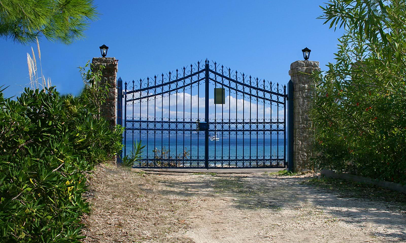 seaside villa in corfu, corfu beach villa for sale