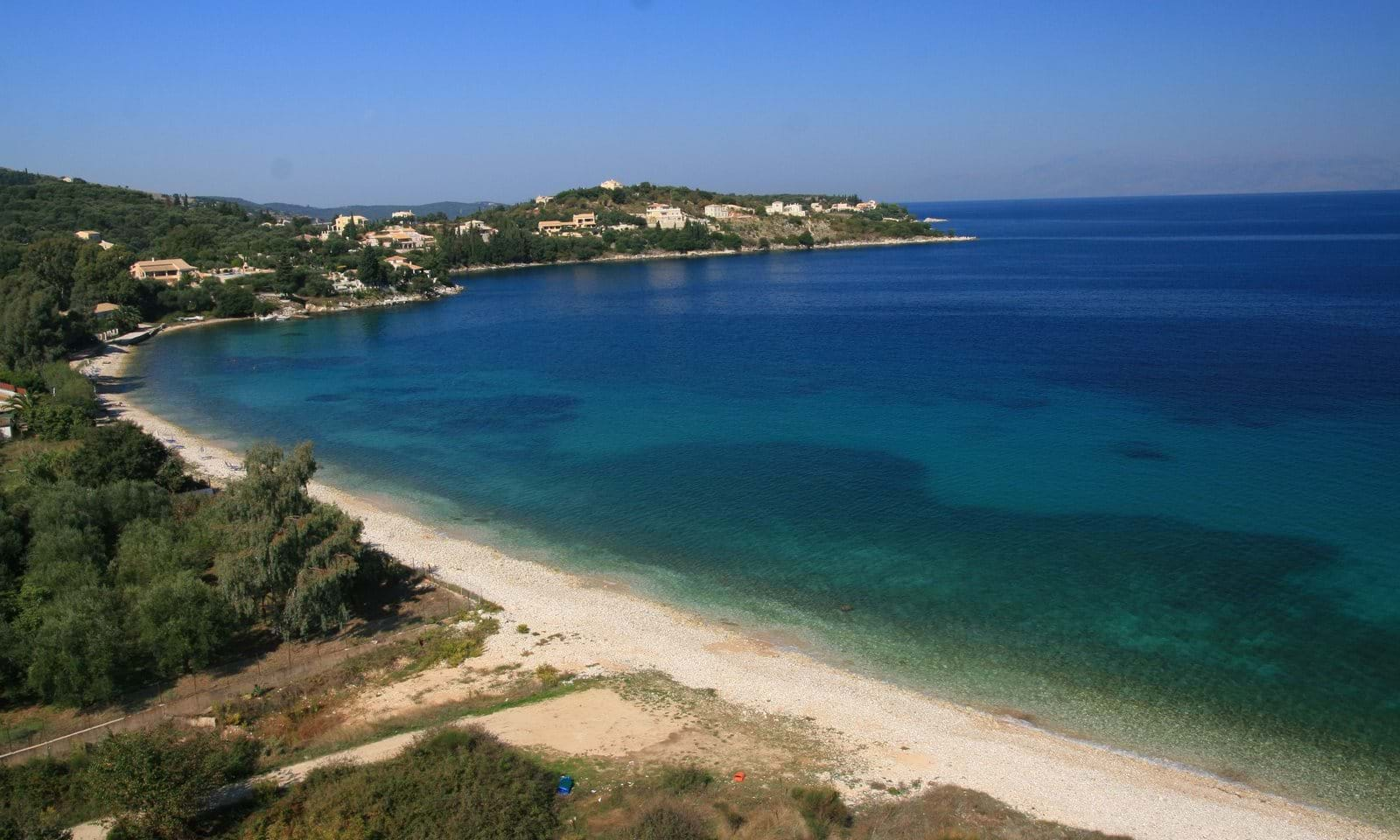 corfu villa near the beach, corfu seaside villa, corfu property
