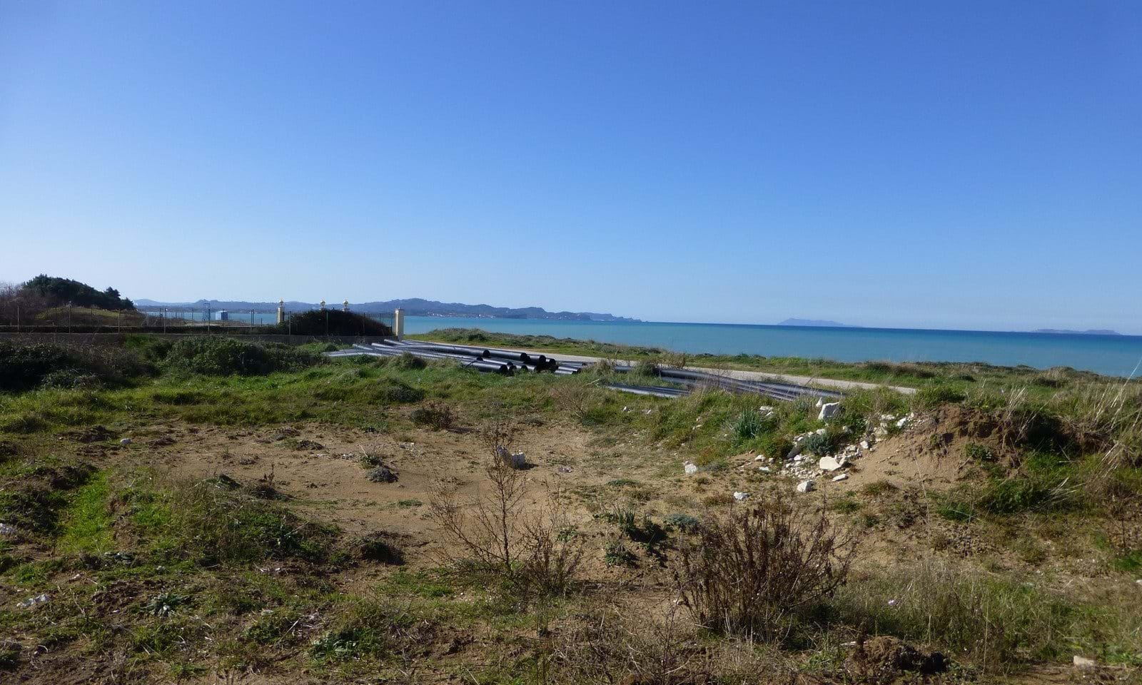 Corfu seaside land for sale