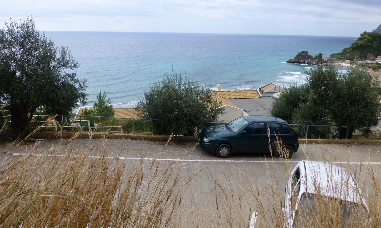 Sea side land for sale in Corfu