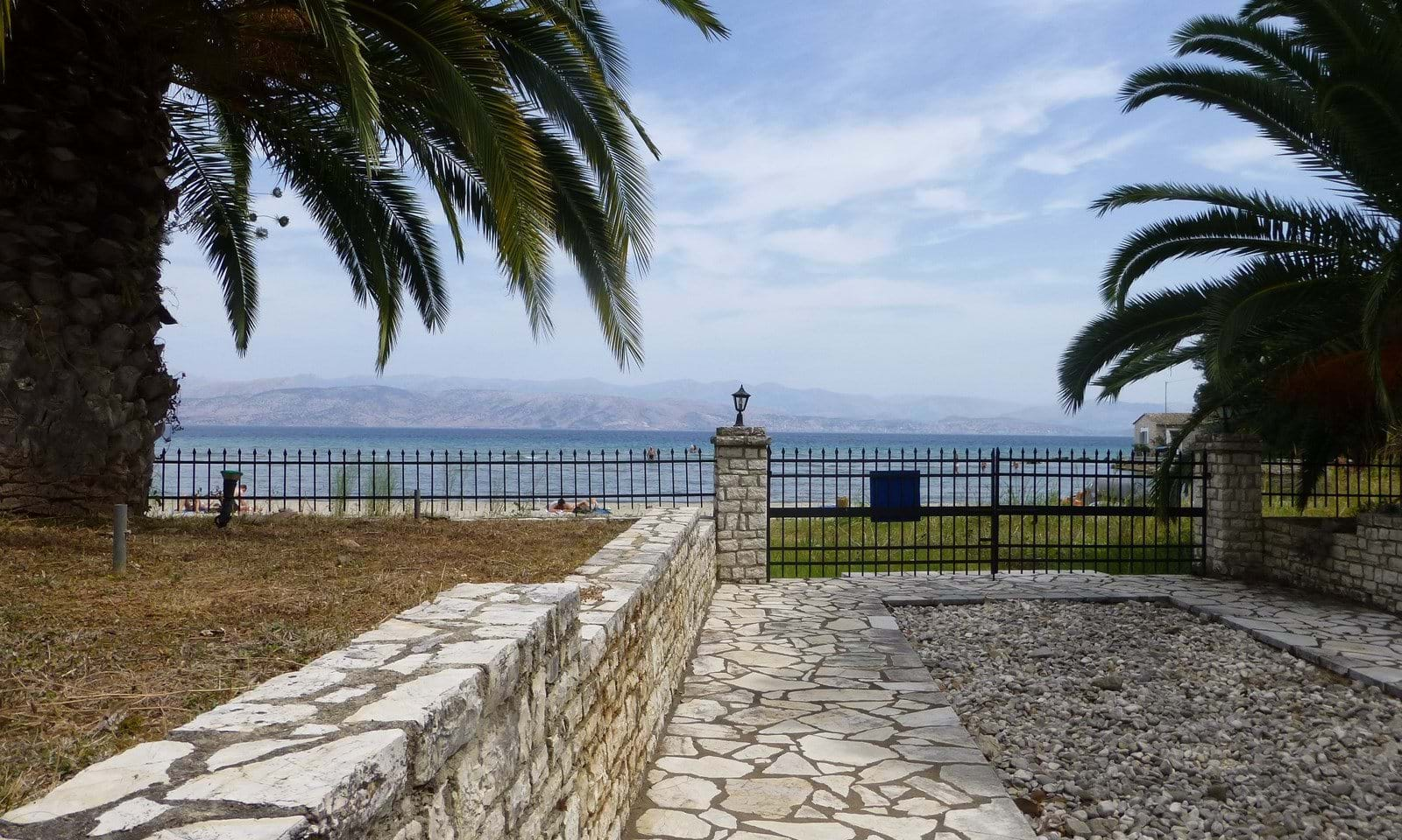 On the beach property for sale in Corfu
