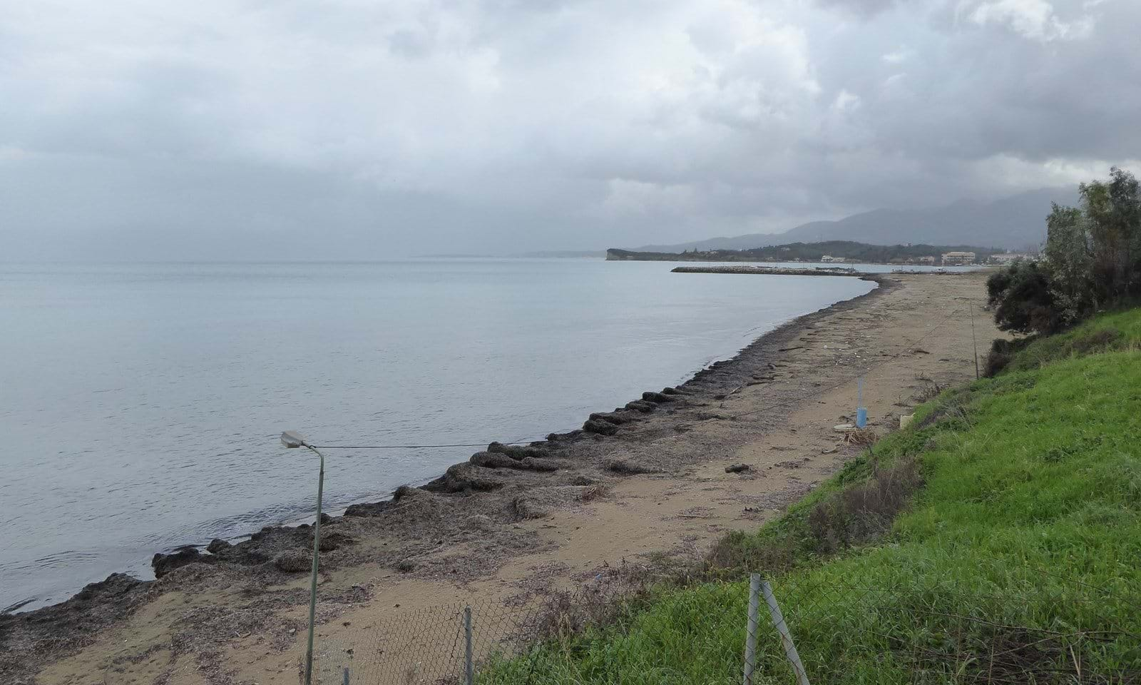 Land on the beach for sale in north Corfu