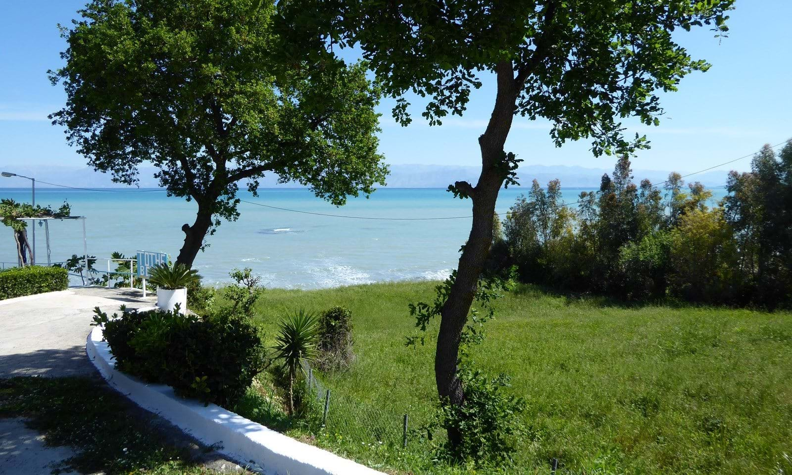 Sea front land for sale in Corfu