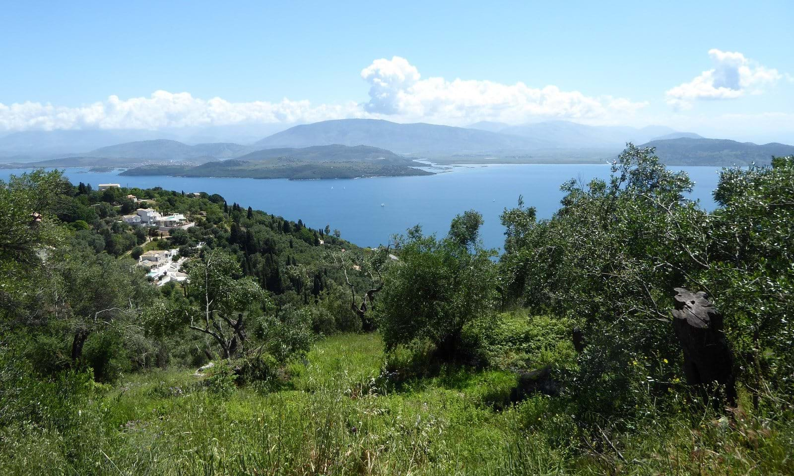 Sea view land for sale in the north east of Corfu