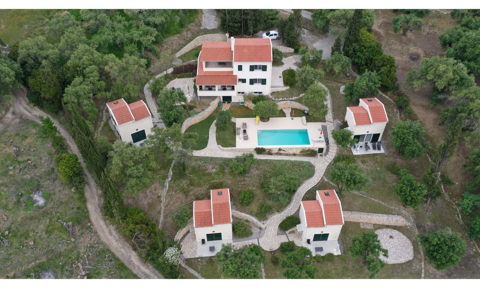 Aerial view of estate