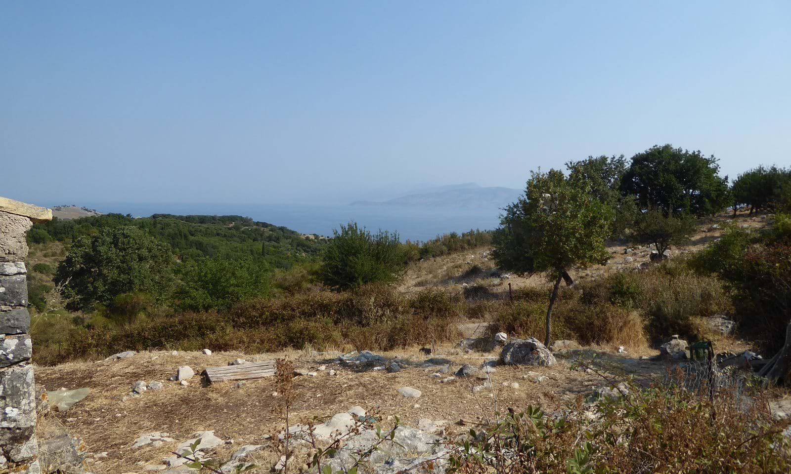 Sea view land for sale in north Corfu