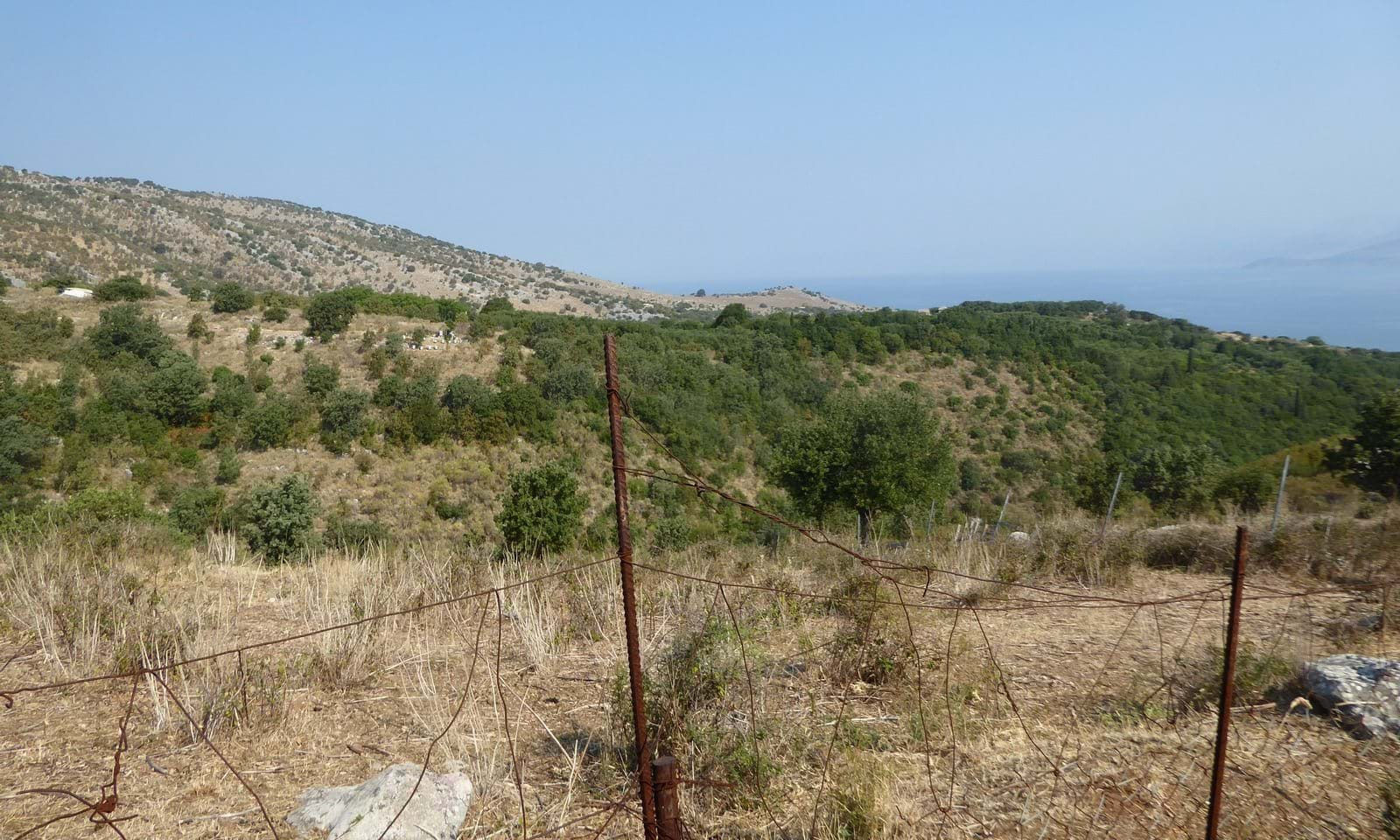 Land for sale in north east Corfu