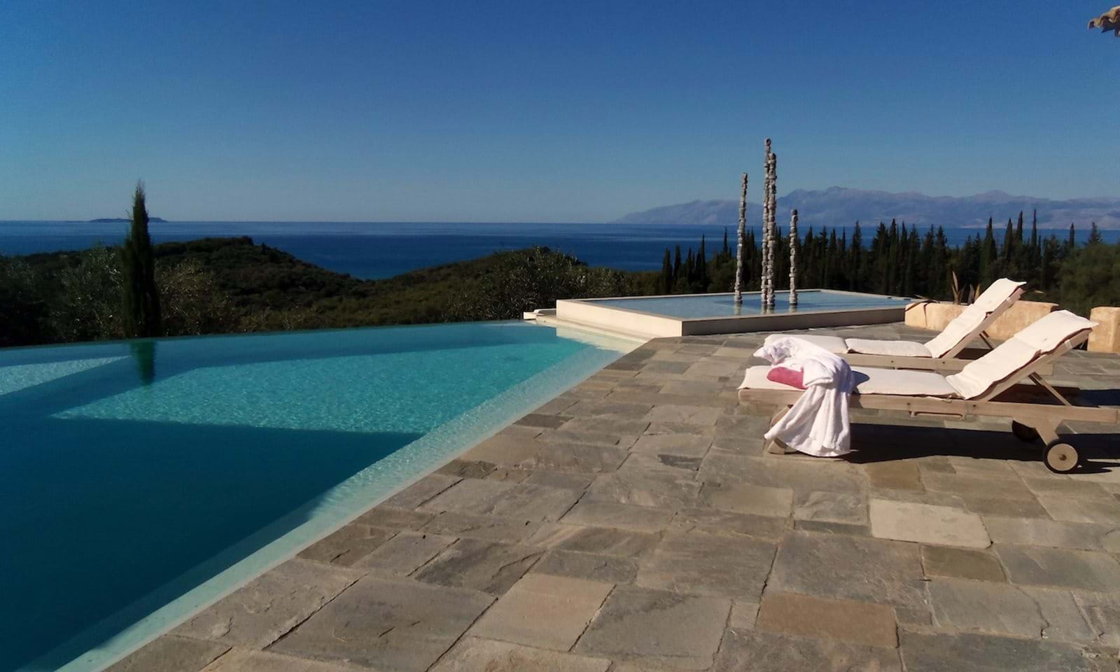 pool, terrace and view