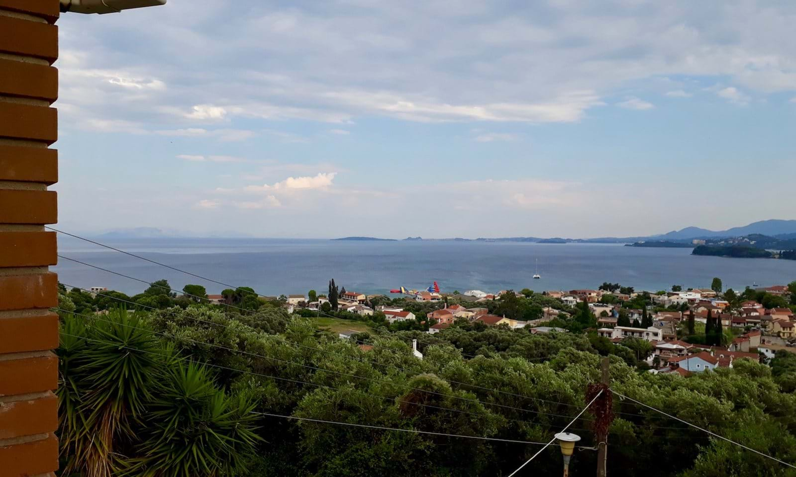 Sea view over ipsos  and Corfu Town