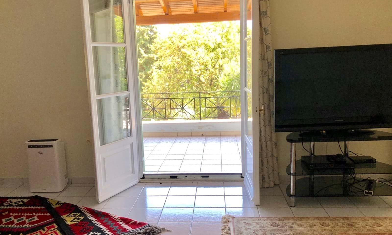 french doors from living room to balcony