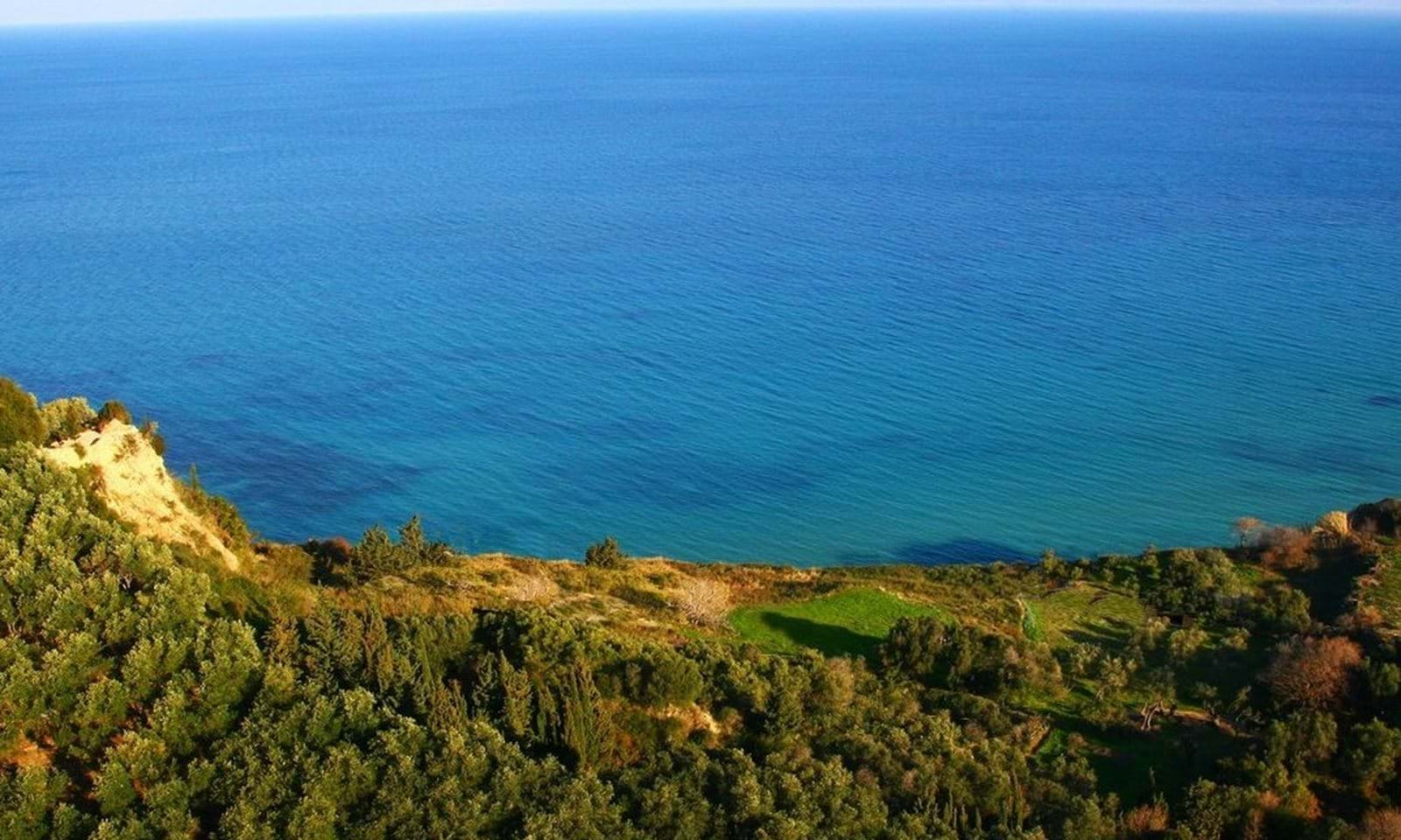 Waterfront land for sale in Corfu